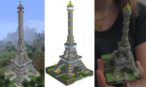 Lanzan software que convierte tus creaciones de Minecraft en algo real