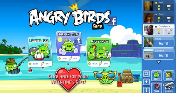 Angry Birds, ahora en Facebook