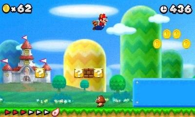 Mario se lleva el oro mientras la nueva y más grande consola Nintendo 3ds Xl, llega a las tiendas
