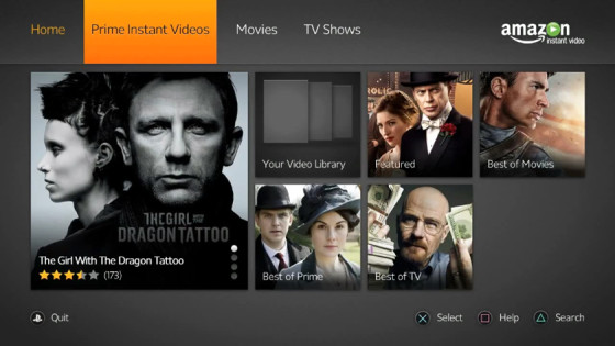 Amazon Instant Video ya está disponible en PlayStation 3