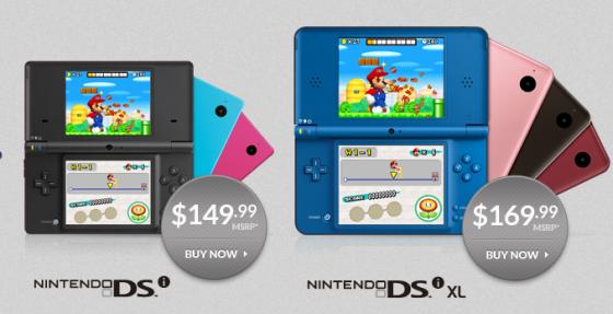 Nintendo DSi y DSi XL bajan de precio