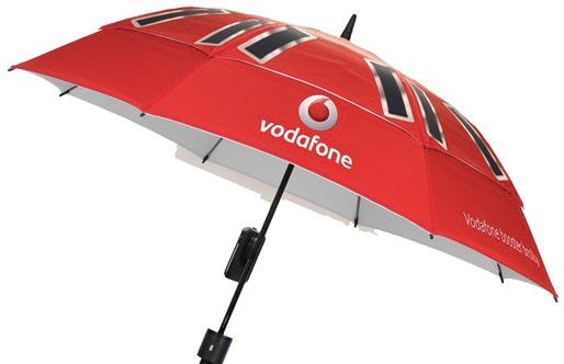 Vodafone creó un paraguas que da cobertura para los celulares