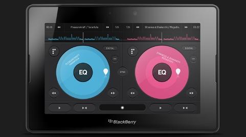 Conviértete en DJ con la aplicación Pacemaker para BlackBerry PlayBook tablet