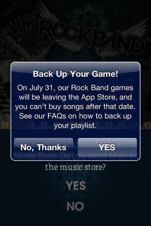 Electronic Arts retirará 'Rock Band' de la App Store la próxima semana