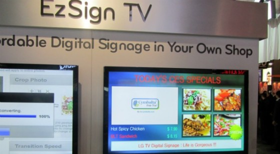 LG presenta EZSIGN TV