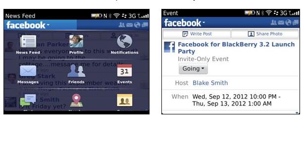 BlackBerry actualiza su aplicación para Facebook