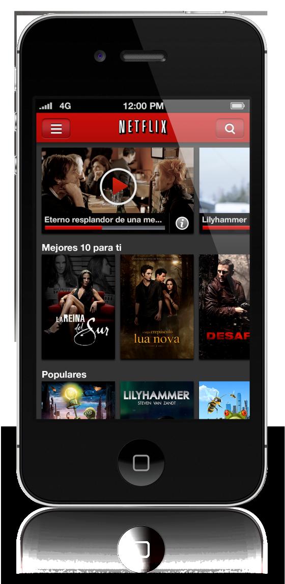 Netflix mejora su aplicación para el iPhone