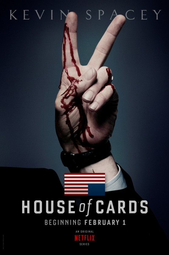 La serie original de Netflix, House Of Cards, protagonizada por Kevin Spacey y Robin Wright, estará disponible en exclusiva el 1 de febrero de 2013