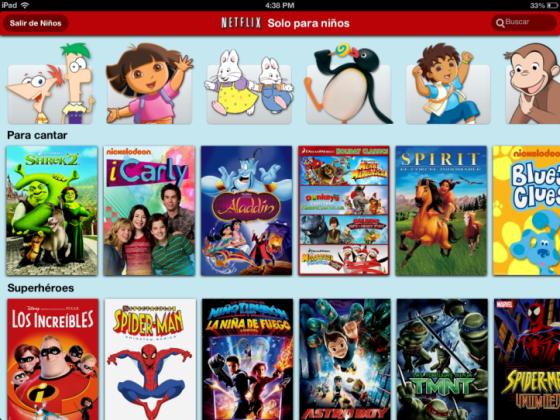 «Sólo para niños» de Netflix ahora disponible para iPad