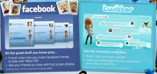 Microsoft elimina Facebook y Twitter del dashboard de Xbox 360