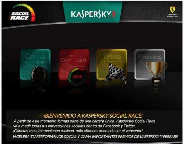 Participa en el concurso Kaspersky Social Race en Facebook