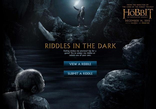 Riddles in the Dark, nueva aplicación web de 'El Hobbit'