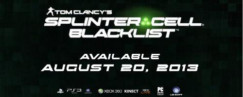 Fecha de estreno y traíler para Splinter Cell: Blacklist