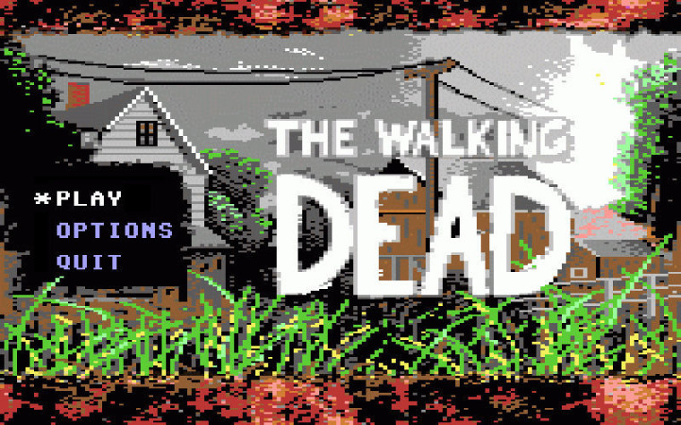 Si The Walking Dead fuera un juego de Commodore 64…