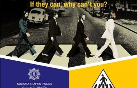 Abbey Road de The Beatles se utiliza para educación vial en Calcuta
