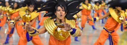 Tributo a Dragon Ball en el Carnaval de Brasil