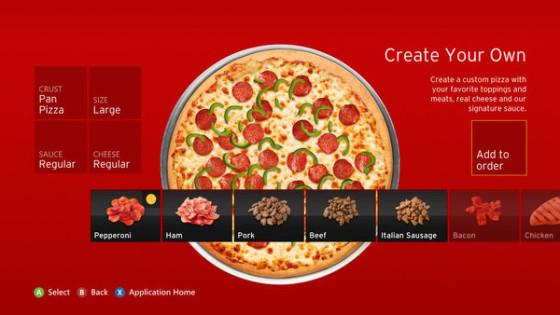¡Ya puedes pedir una pizza mediante tu Xbox!