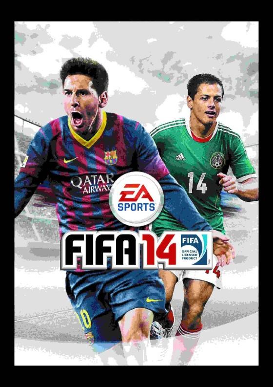 Javier 'Chicharito' Hernández en la portada de FIFA 14