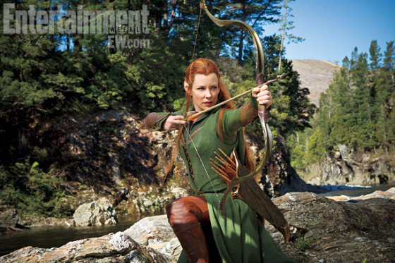 Primer vistazo a Evangeline Lilly como Tauriel en «The Hobbit: The Desolation of Smaug»