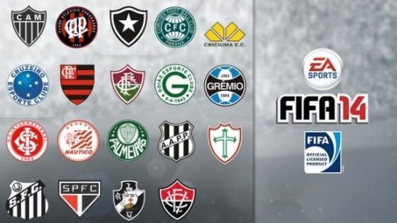 FIFA 14 tendrá la licencia de 14 clubes de futbol brasileños
