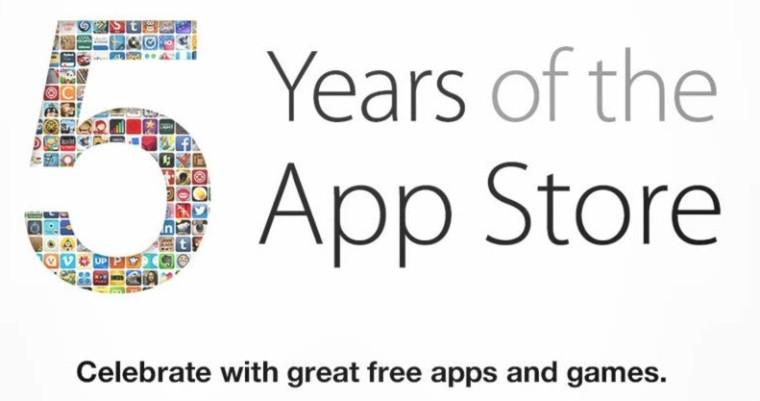 Conoce las apps más vendidas en los 5 años de la iTunes Store