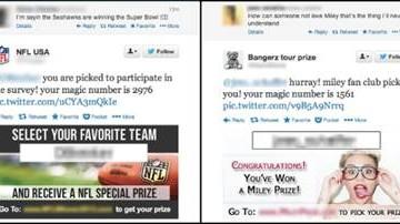 Fans de la NFL y Miley Cyrus son blanco de spam por Twitter
