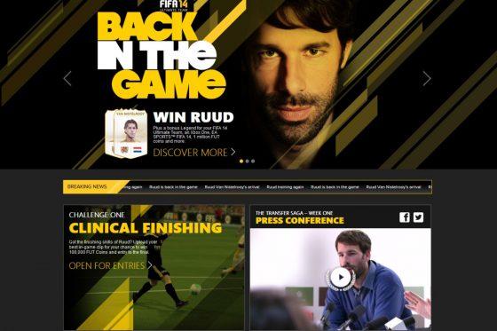 Ruud Van Nistelrooy participa en una campaña de publicidad de FIFA 14