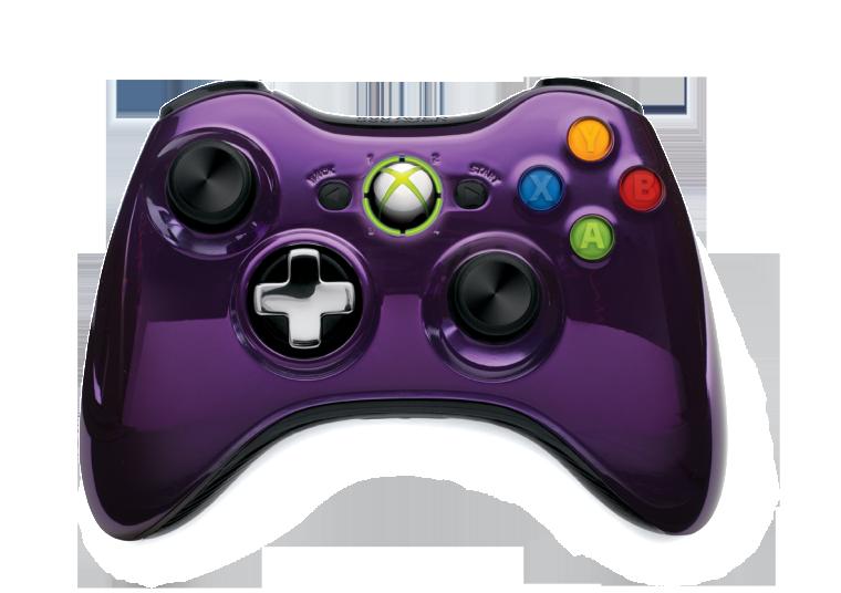 Microsoft estrena controles Inalámbricos Edición Especial Cromados Negro y Morado para Xbox 360