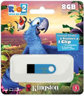 Se acerca la película RIO 2 y Kingston muestra su lado salvaje con 2 nuevas memorias flash