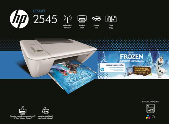 HP Ink Advantage descongela e imprime la diversión de la película «Frozen»