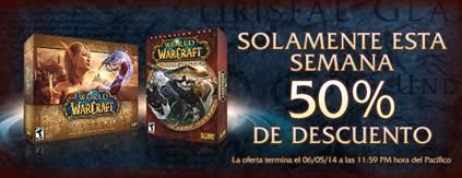 Hasta hoy: World of Warcraft completo con 50% de descuento