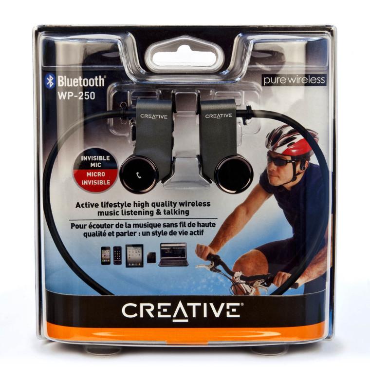 Disfruta de la pureza de la música y del deporte con los auriculares inalámbricos Bluetooth Creative WP-250
