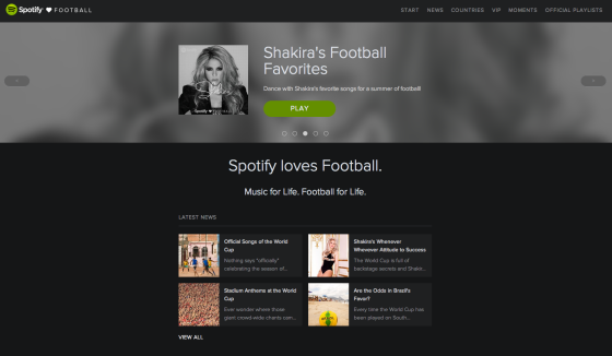 Spotify presenta «Spotify Loves Football»