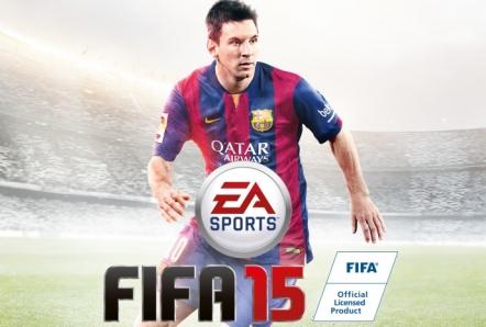 Lionel Messi en la portada de 'FIFA 15' de EA Sports