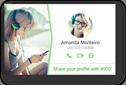 La nueva versión de ICQ para Android permite compartir tu perfil en redes sociales