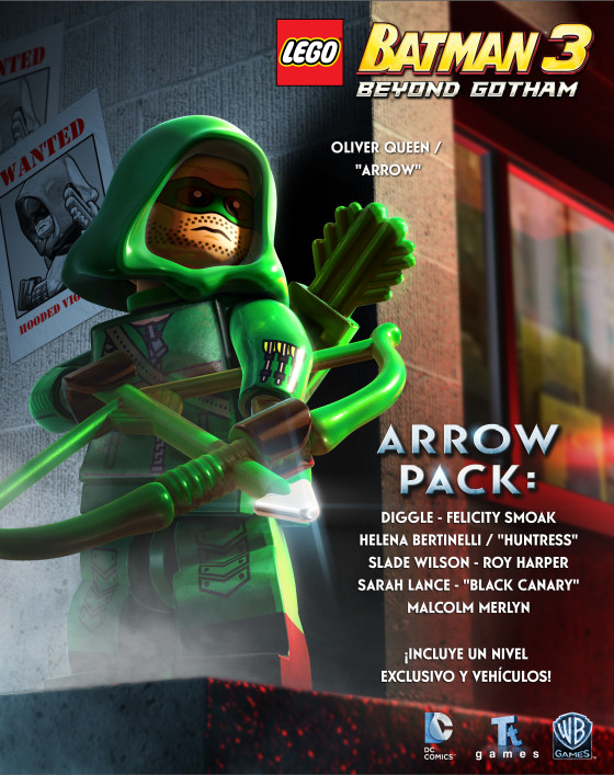 Juega como Green Arrow en 'LEGO Batman 3: Beyond Gotham'