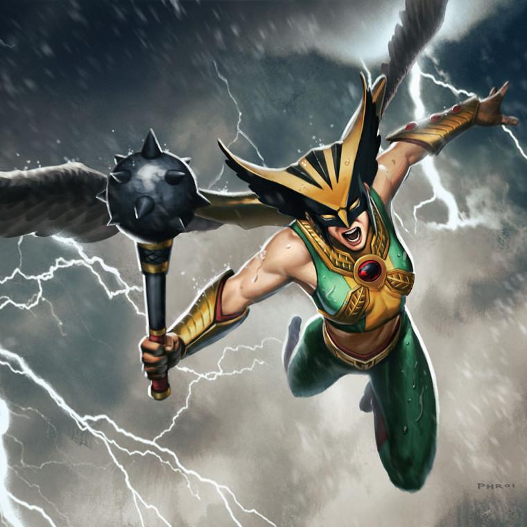 Combate el crimen como Hawkgirl en Infinite Crisis