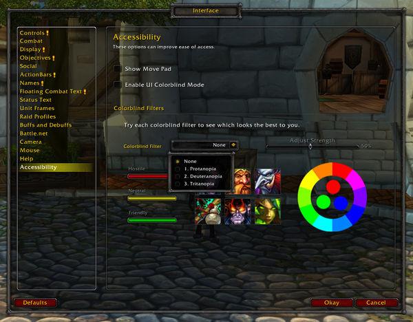 El parche 6.1 de World of Warcraft ayudará a daltónicos a jugar el videojuego