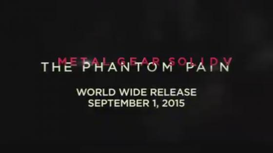 ¡Por fin! Metal Gear Solid 5: The Phantom Pain ya tiene fecha de estreno
