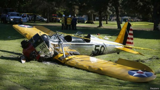 Harrison Ford sufre accidente en una avioneta, se encuentra en estado delicado