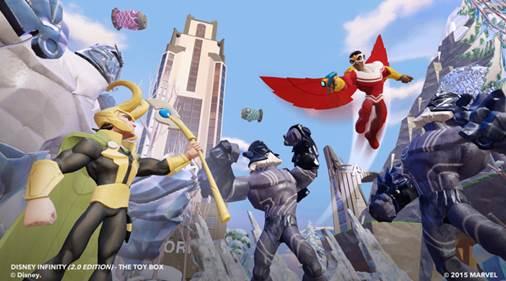 Falcon y Loki se unen a los personajes de Disney Infinity: Marvel Superheroes Edition