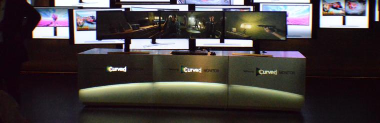 Samsung Electronics presenta sus primeros monitores curvos