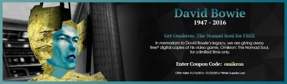 Descarga gratis y legalmente, el juego Omikron: The Nomad Soul, en memoria de David Bowie