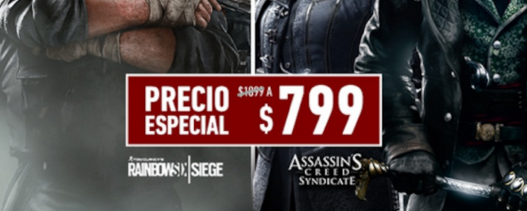 Assassin's Creed Syndicate y Tom Clancy's Rainbow Six Siege, a precio especial