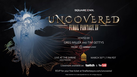 Mira el stream en vivo de Uncovered: Final Fantasy XV #UNCOVEREDFFXV