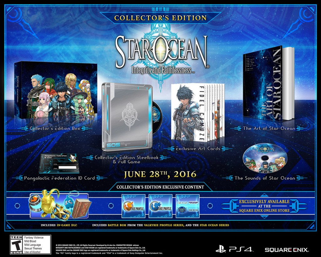 STAR OCEAN: Integrity and Faithlessness Collector's Edition