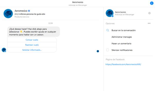 Aeroméxico anuncia Aerobot, el primer chatbot en el continente