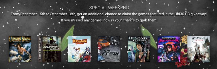 Última oportunidad de canjear los juegos gratuitos de Ubisoft
