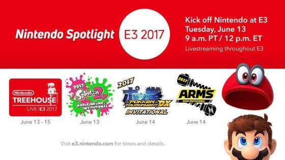 Ya comienza el Nintendo Spotlight E3 2017, míralo con nosotros