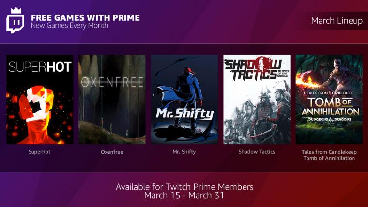 Videojuegos gratis, con Twitch Prime